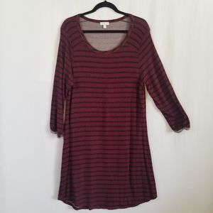 Charming Charlie Soft and Comfy Striped Tee Dress